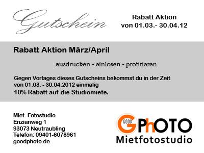 GoodPhoto Angebot März/April 2012