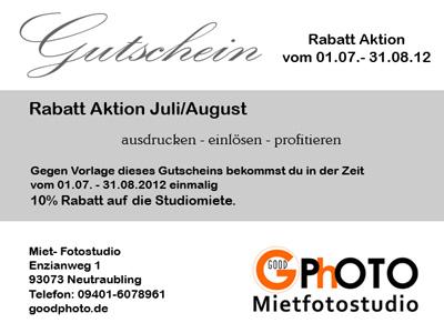 GoodPhoto Angebot im Juli/August 2012