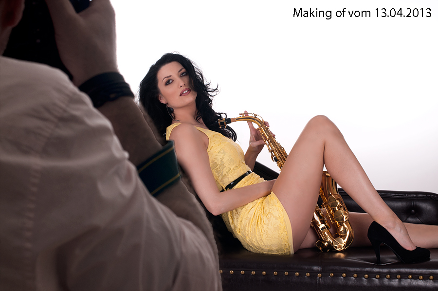 Making of Fotograf Daniel W Marks und Fotomodel Aline