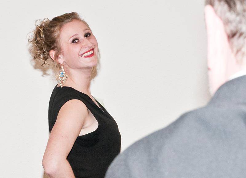 Model Lisa beim Casting