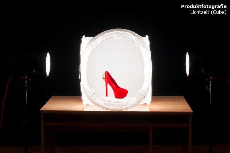 Produktfotografie mit Lichtzelt