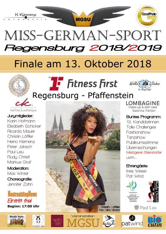 Plakat MGSU Misswahl Regensburg