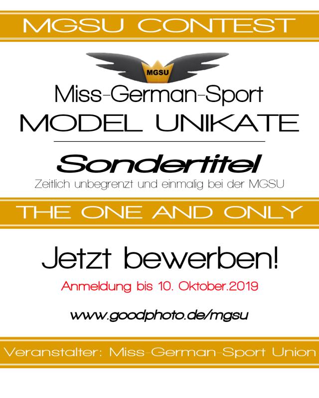 Plakat Misswahl MGSU Model Unikat